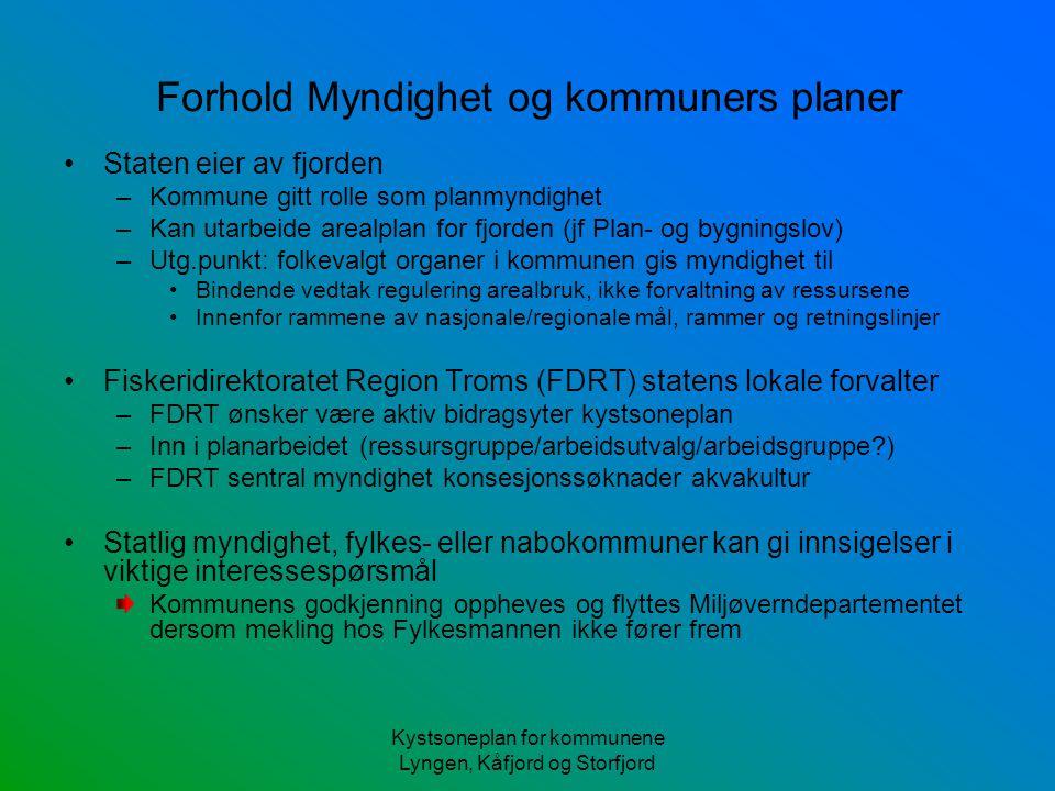 Forhold Myndighet og kommuners planer