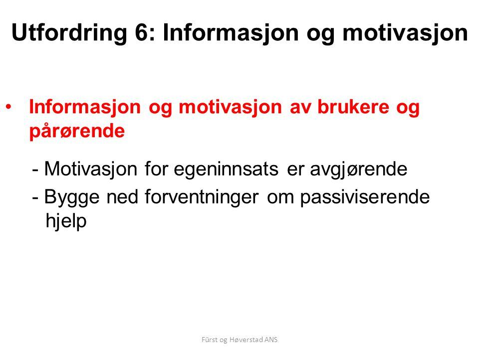 Utfordring 6: Informasjon og motivasjon