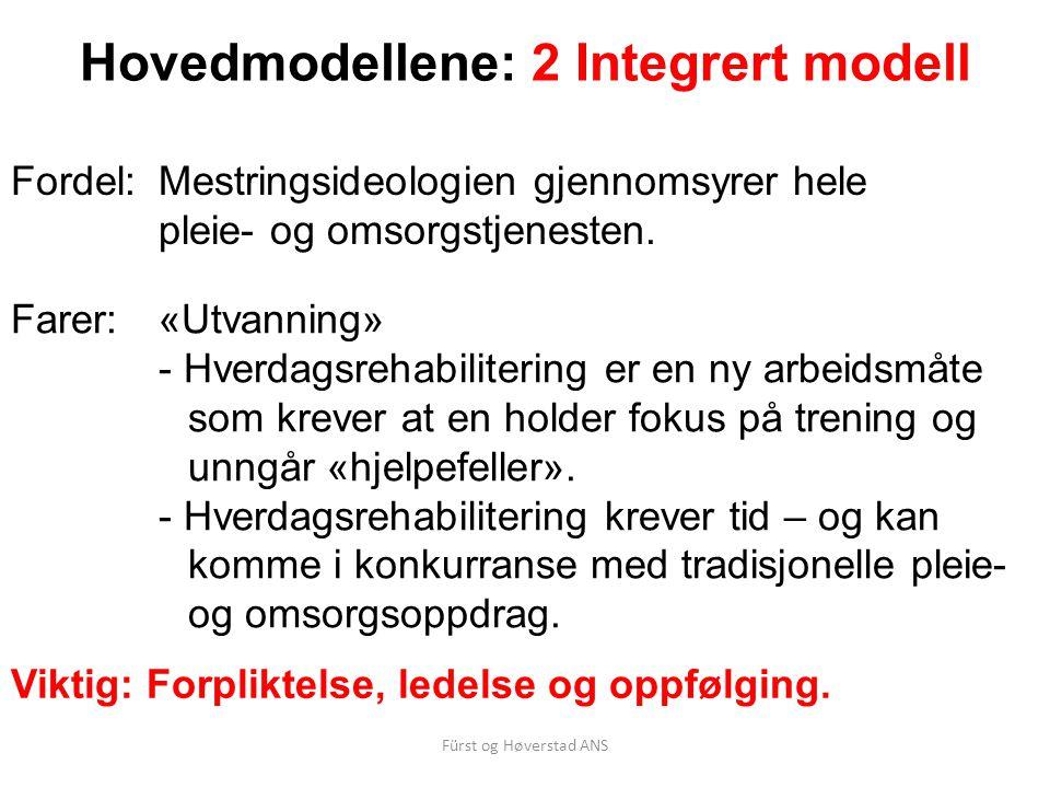 Hovedmodellene: 2 Integrert modell