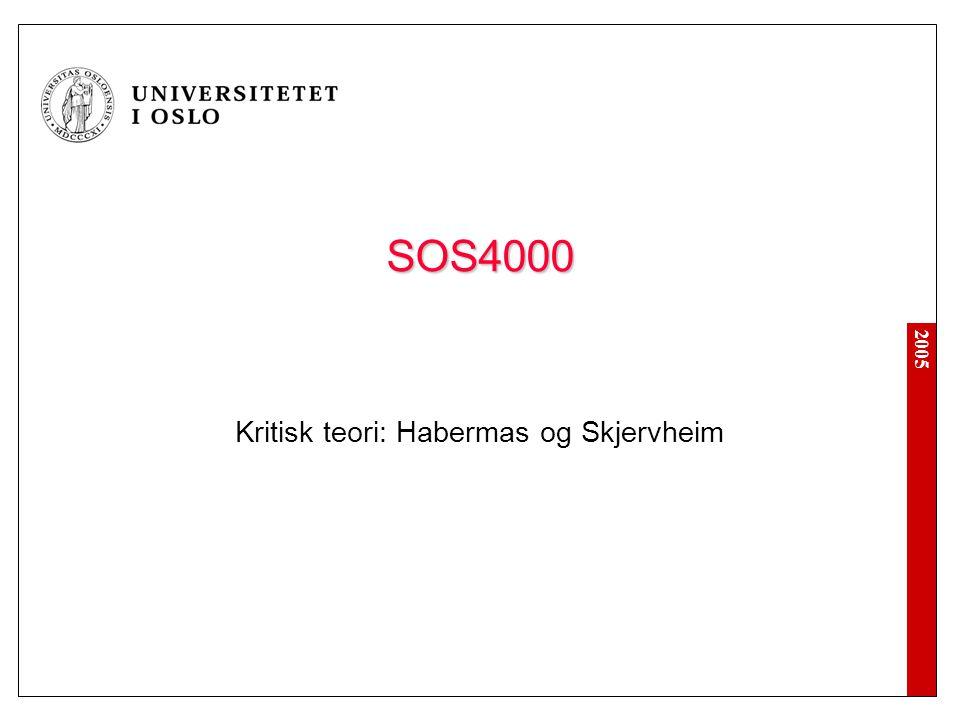 Kritisk teori: Habermas og Skjervheim