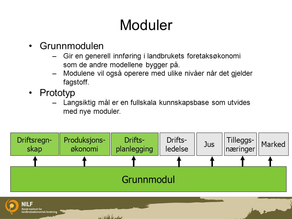 Moduler Grunnmodulen Prototyp Grunnmodul