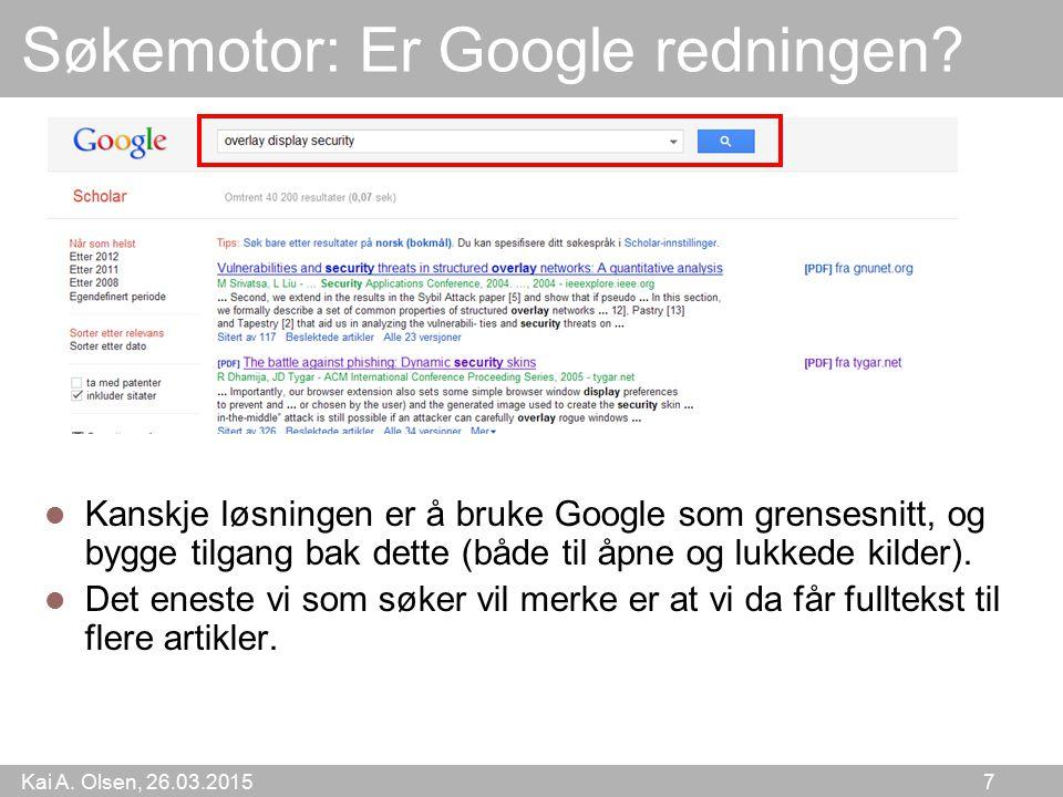Søkemotor: Er Google redningen