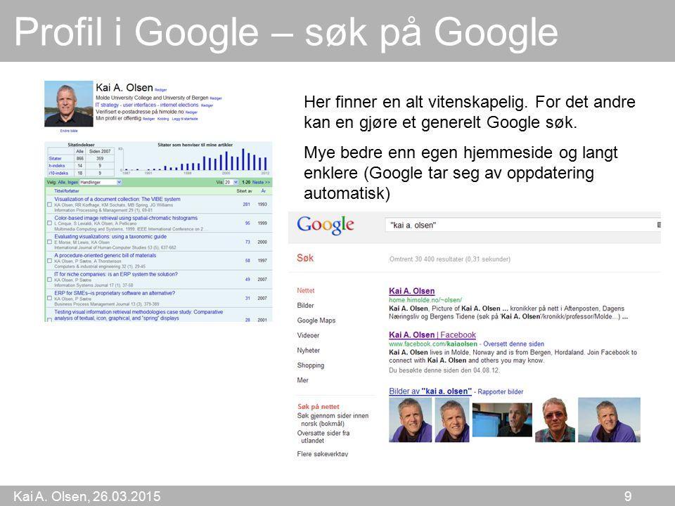 Profil i Google – søk på Google