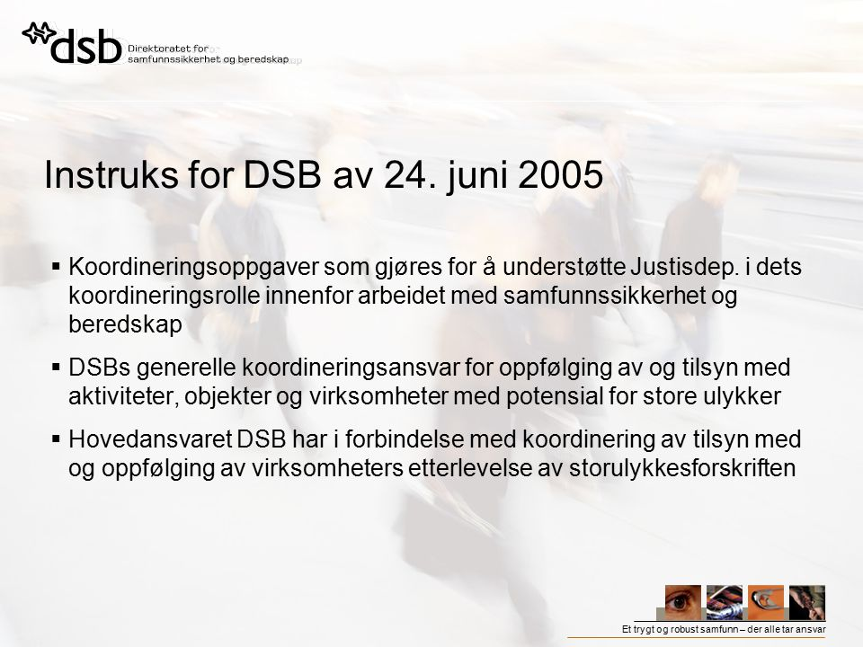 Instruks for DSB av 24. juni 2005