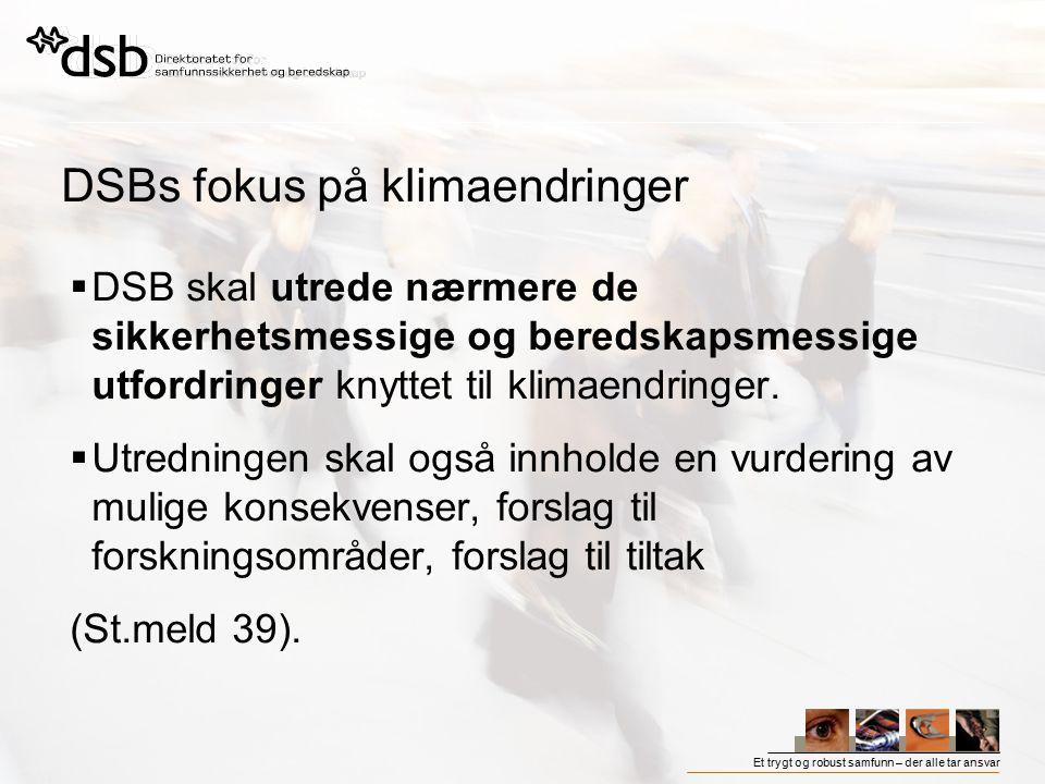 DSBs fokus på klimaendringer