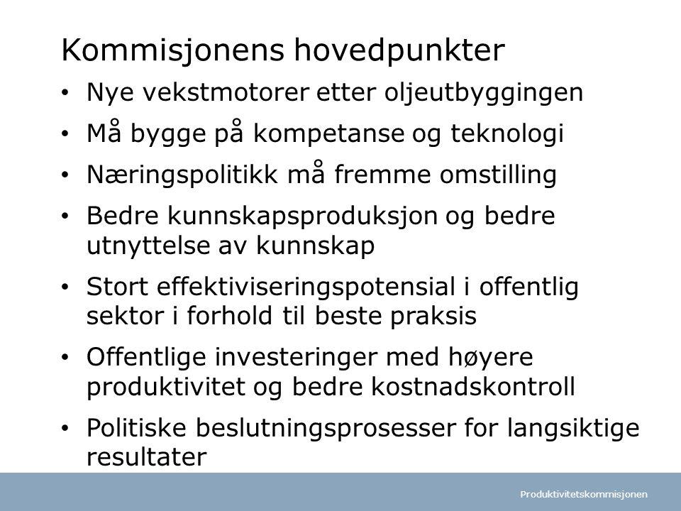Kommisjonens hovedpunkter