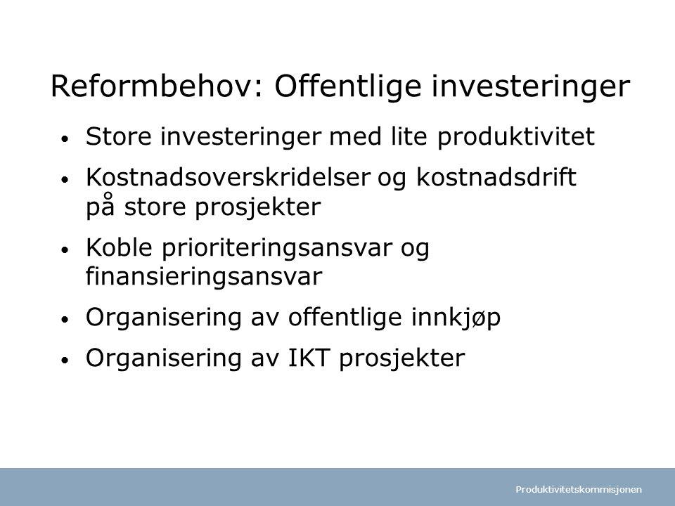 Reformbehov: Offentlige investeringer