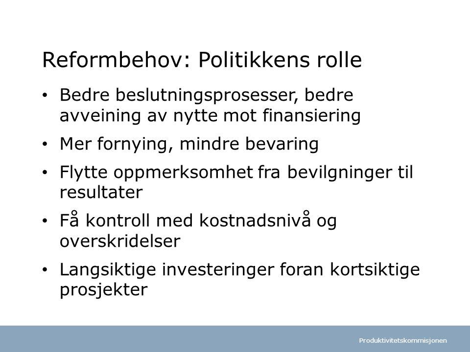 Reformbehov: Politikkens rolle