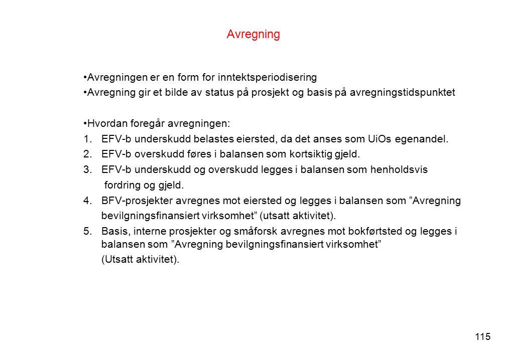 Avregning Avregningen er en form for inntektsperiodisering