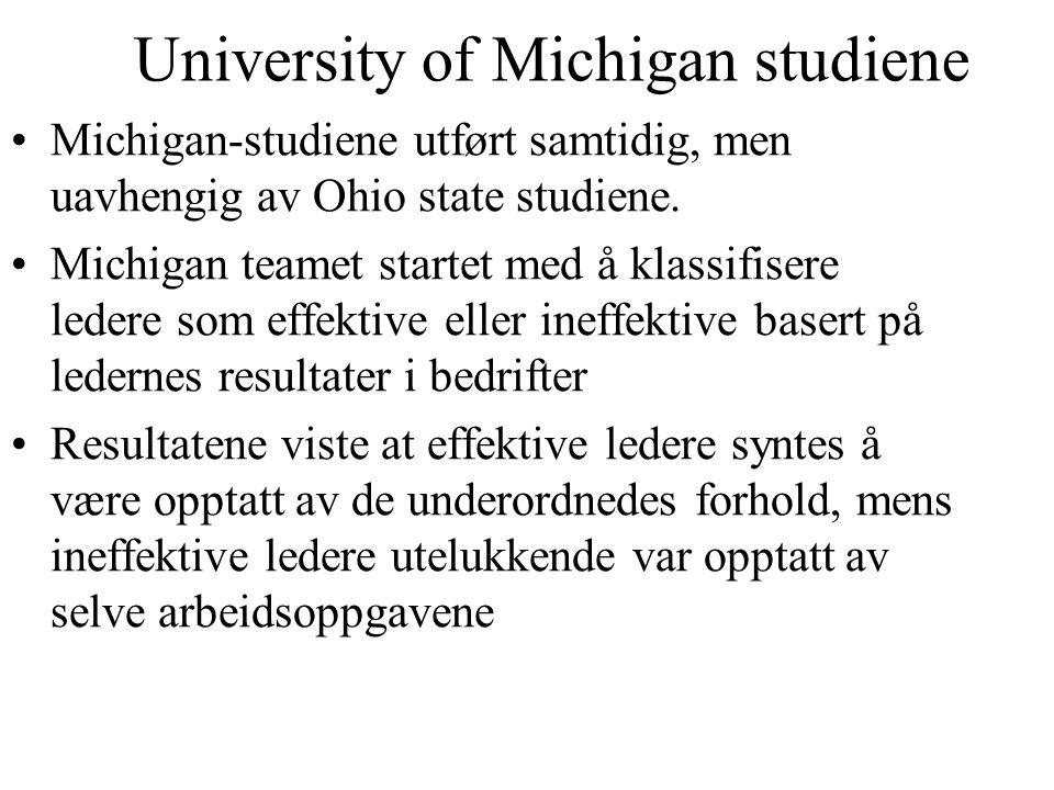 University of Michigan studiene