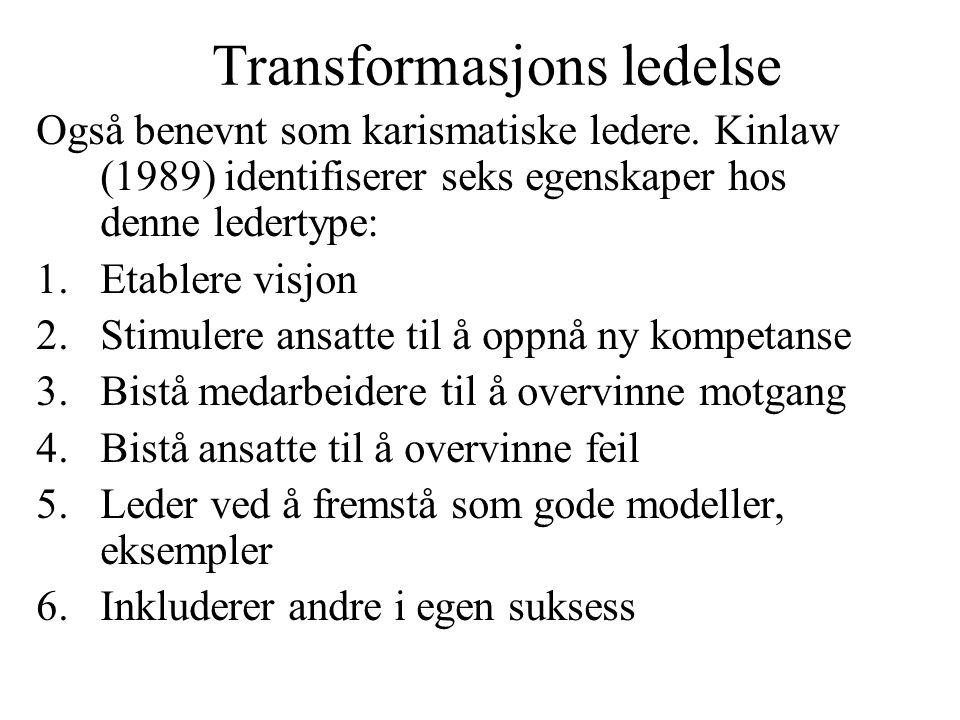 Transformasjons ledelse