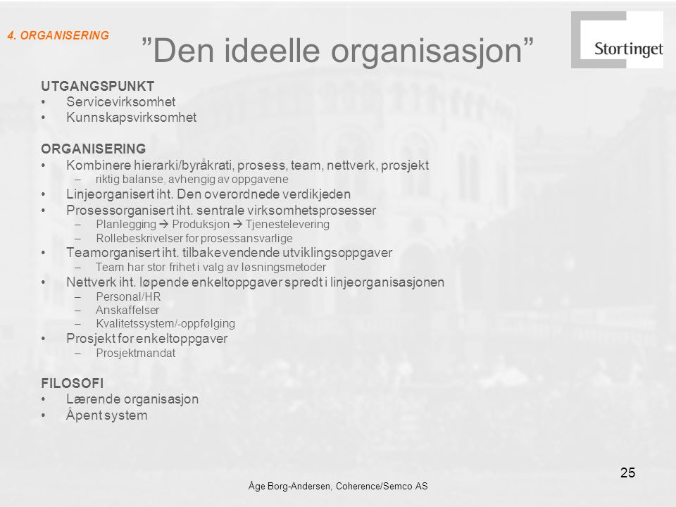 Den ideelle organisasjon