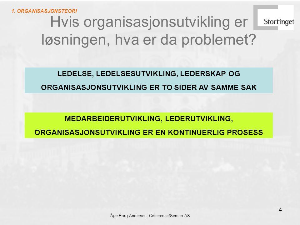 Hvis organisasjonsutvikling er løsningen, hva er da problemet
