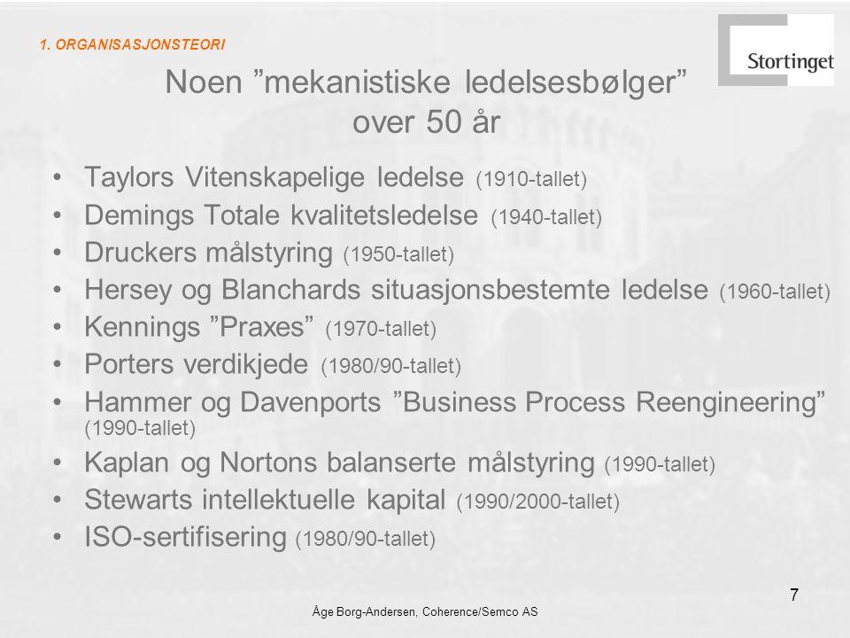 Noen mekanistiske ledelsesbølger over 50 år