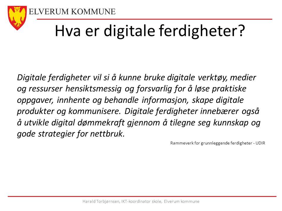 Hva er digitale ferdigheter