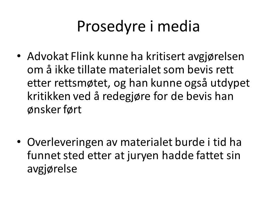 Prosedyre i media