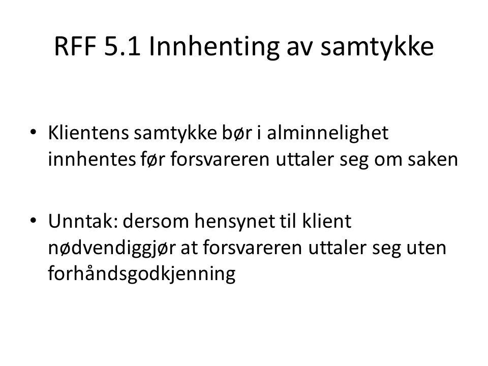 RFF 5.1 Innhenting av samtykke