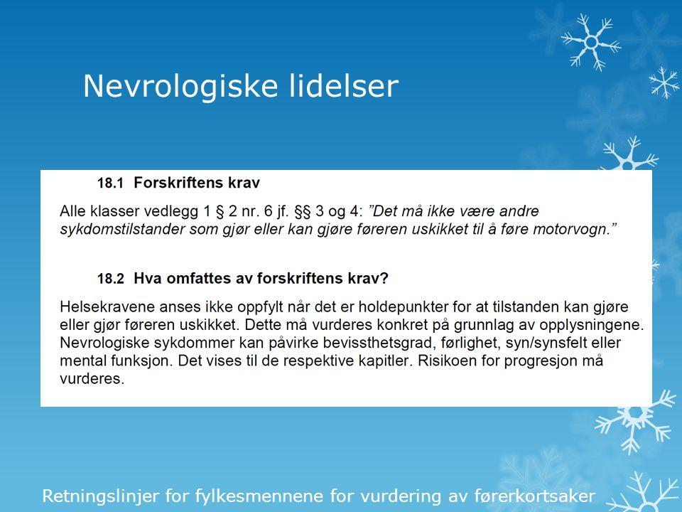 Nevrologiske lidelser