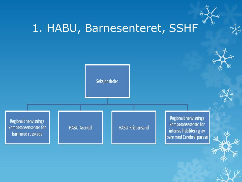 1. HABU, Barnesenteret, SSHF