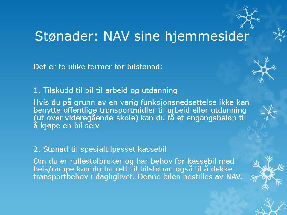 Stønader: NAV sine hjemmesider