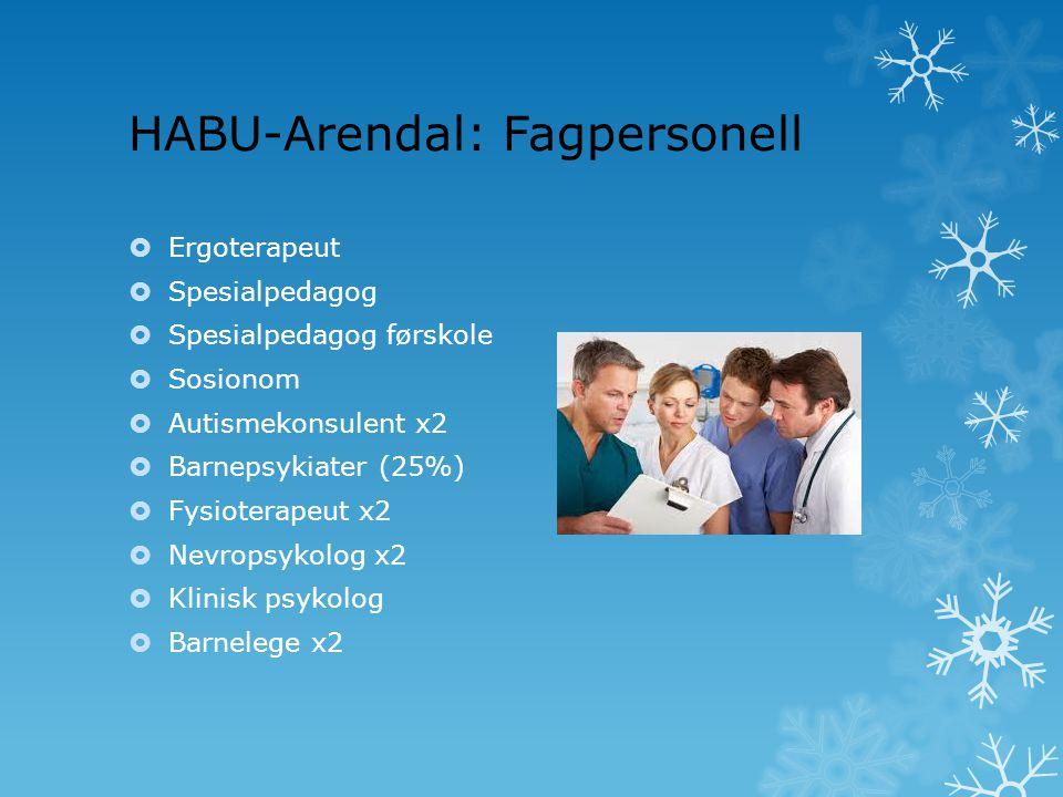 HABU-Arendal: Fagpersonell