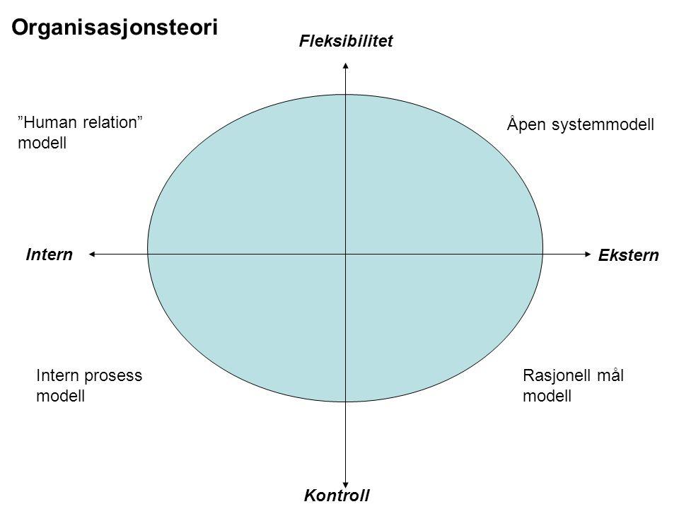 Organisasjonsteori Fleksibilitet Human relation modell
