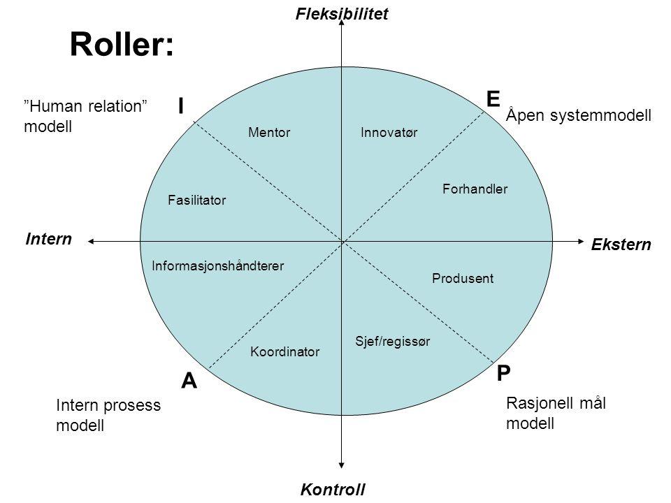 Roller: E I P A Fleksibilitet Human relation modell
