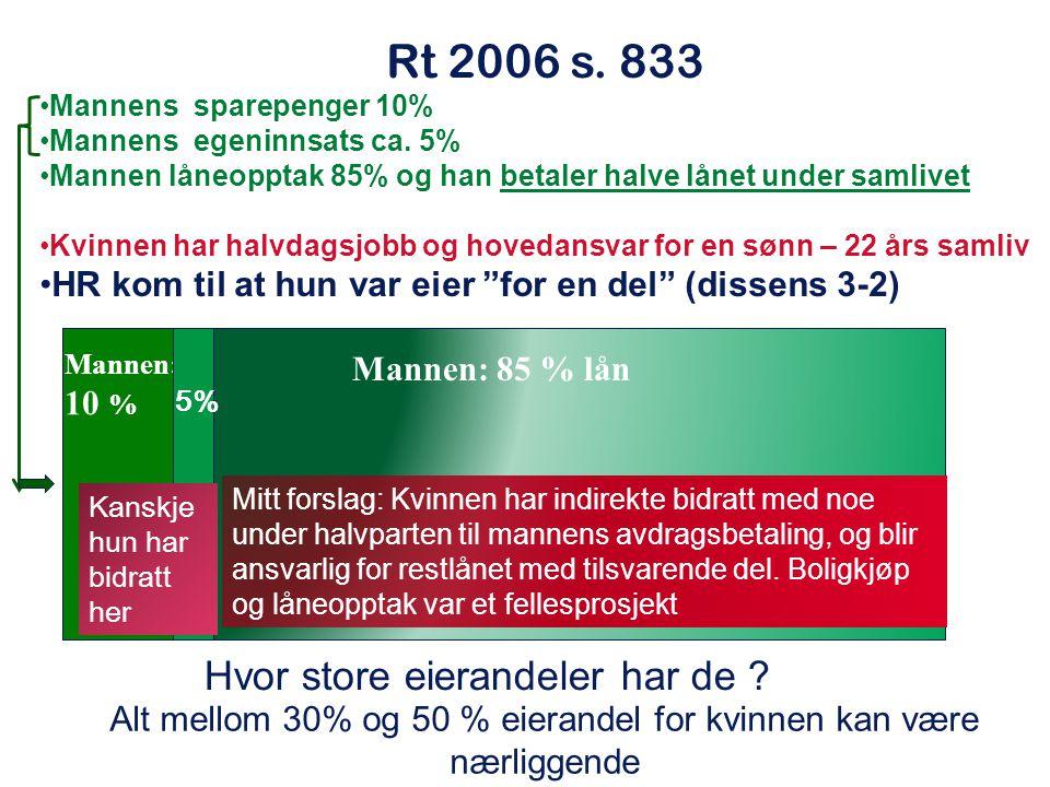 Rt 2006 s. 833 Hvor store eierandeler har de