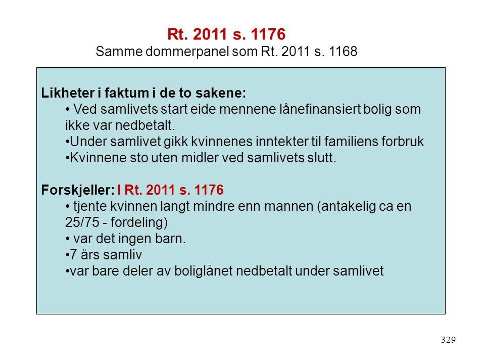 Samme dommerpanel som Rt. 2011 s. 1168