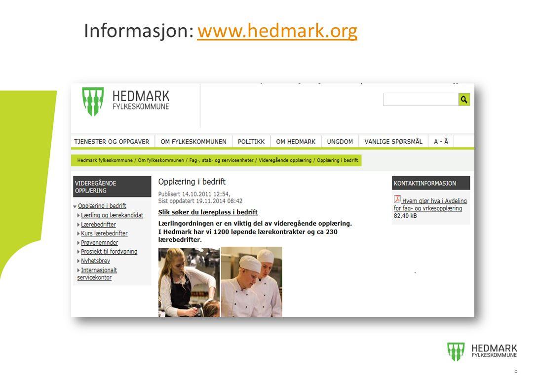 Informasjon: www.hedmark.org