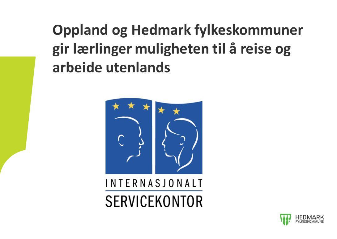 Oppland og Hedmark fylkeskommuner gir lærlinger muligheten til å reise og arbeide utenlands
