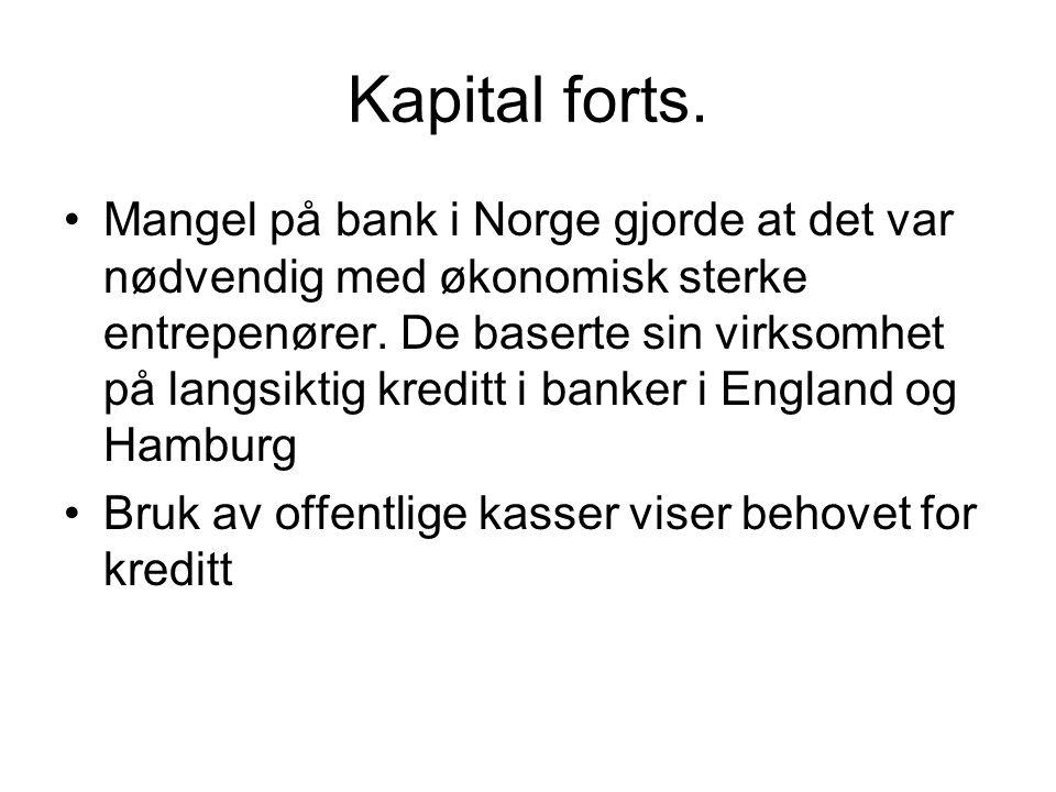 Kapital forts.