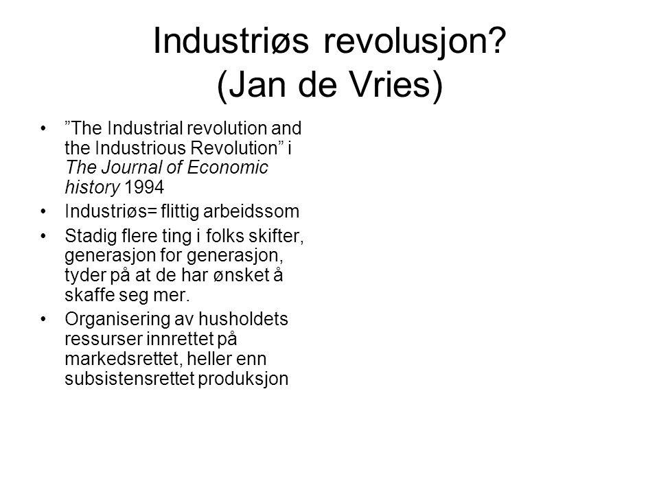 Industriøs revolusjon (Jan de Vries)