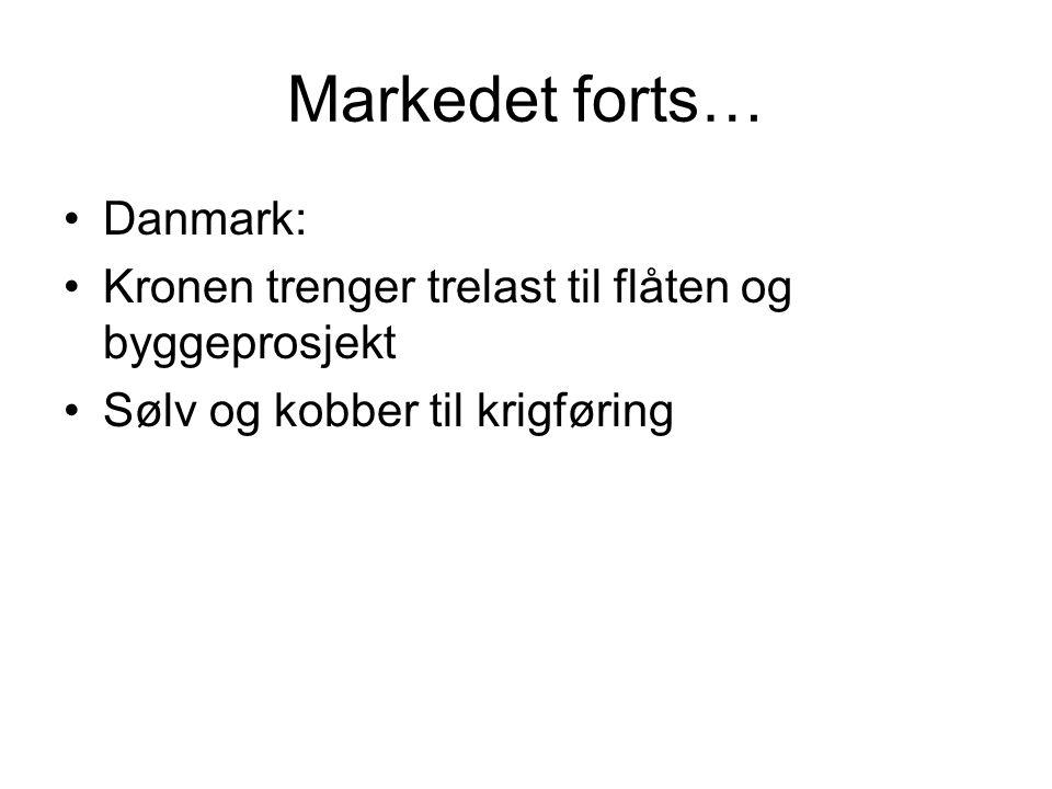 Markedet forts… Danmark: