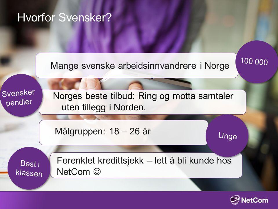 Hvorfor Svensker Mange svenske arbeidsinnvandrere i Norge