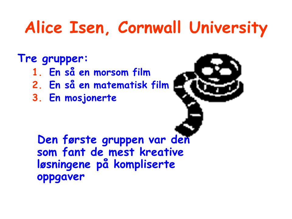 Alice Isen, Cornwall University