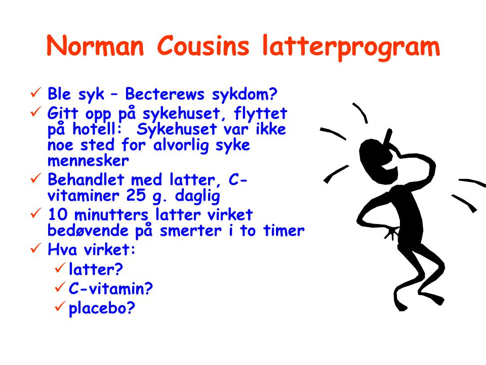 Norman Cousins latterprogram