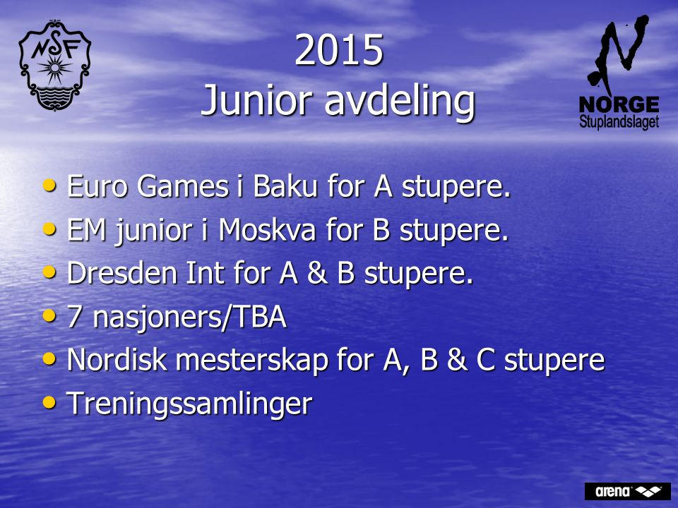 2015 Junior avdeling Euro Games i Baku for A stupere.