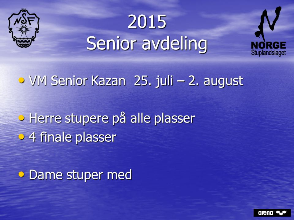 2015 Senior avdeling VM Senior Kazan 25. juli – 2. august