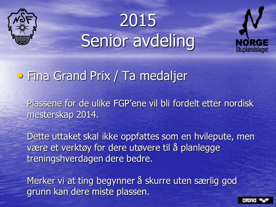 2015 Senior avdeling