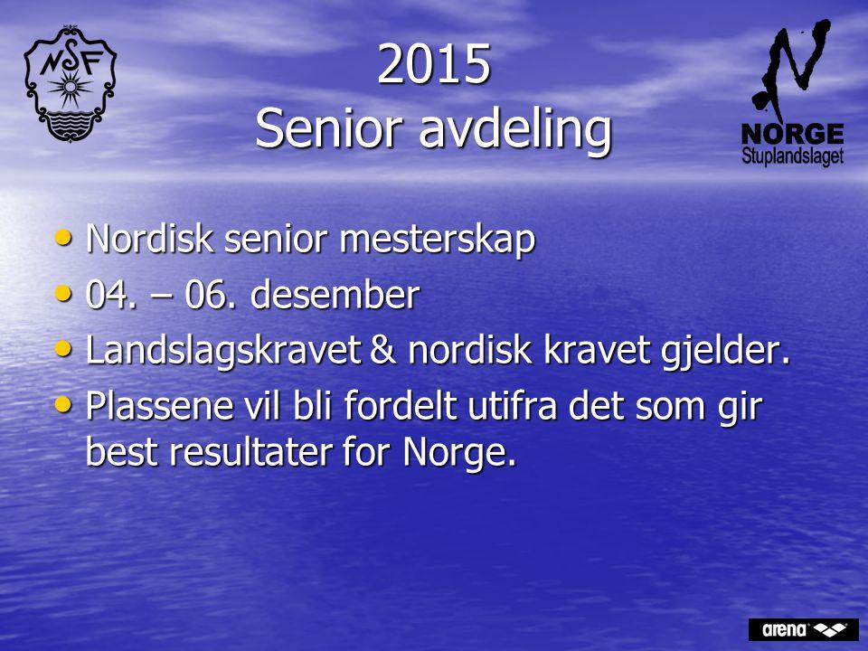 2015 Senior avdeling Nordisk senior mesterskap 04. – 06. desember