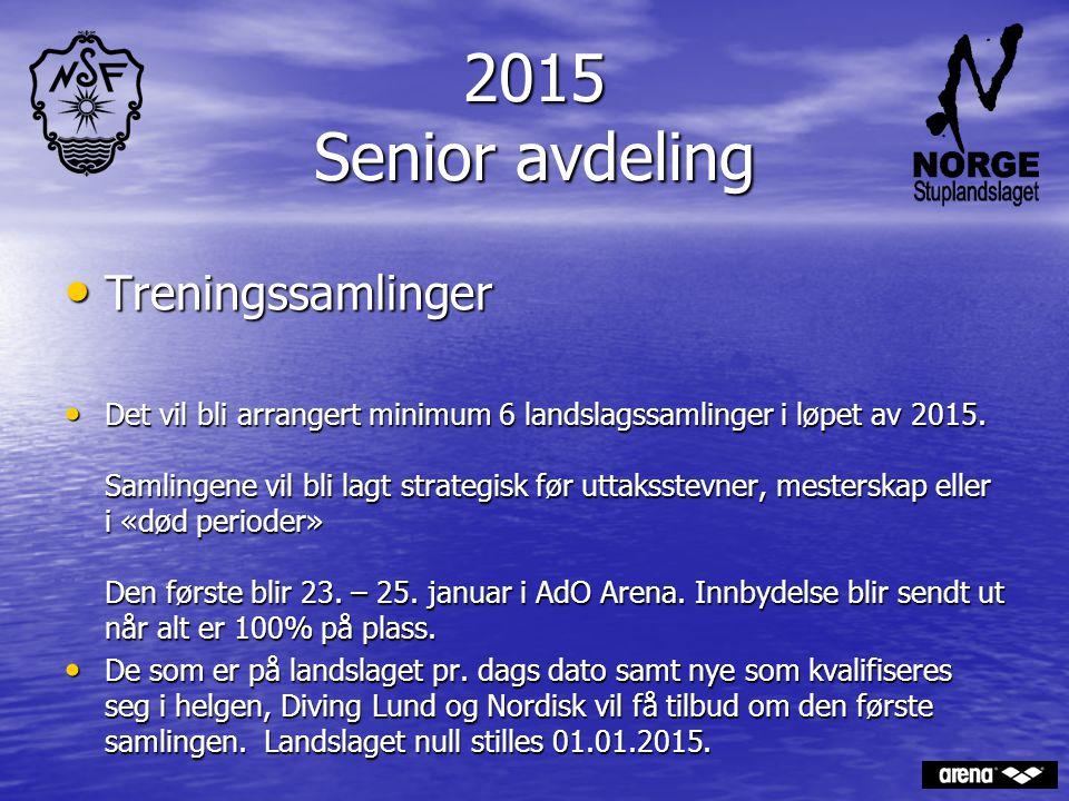 2015 Senior avdeling Treningssamlinger