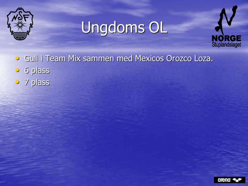 Ungdoms OL Gull i Team Mix sammen med Mexicos Orozco Loza. 6 plass