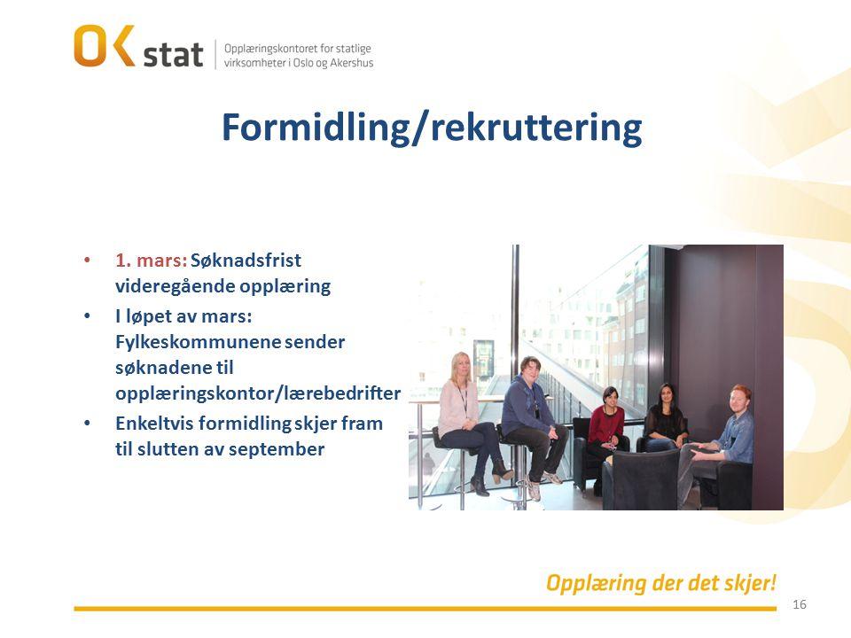Formidling/rekruttering
