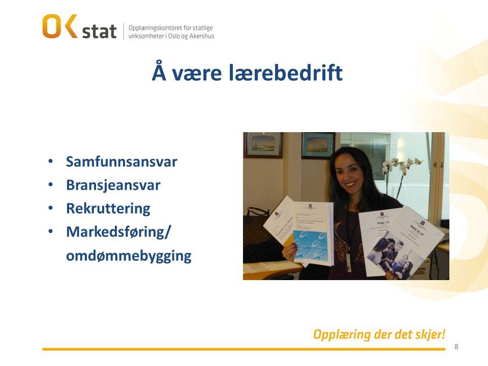 Å være lærebedrift Samfunnsansvar Bransjeansvar Rekruttering