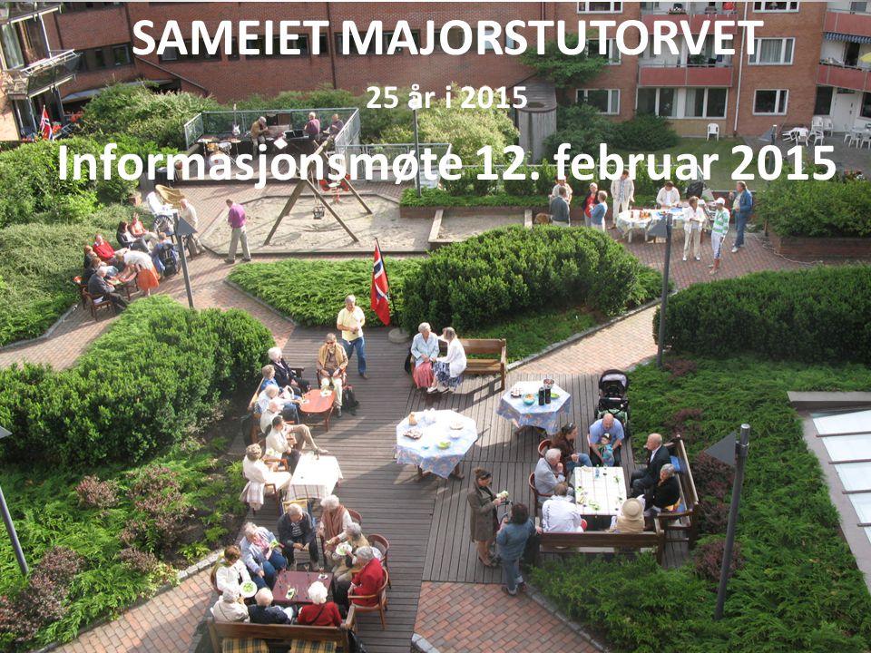 SAMEIET MAJORSTUTORVET Informasjonsmøte 12. februar 2015