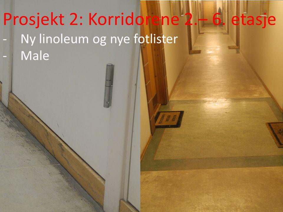 Prosjekt 2: Korridorene 2.– 6. etasje