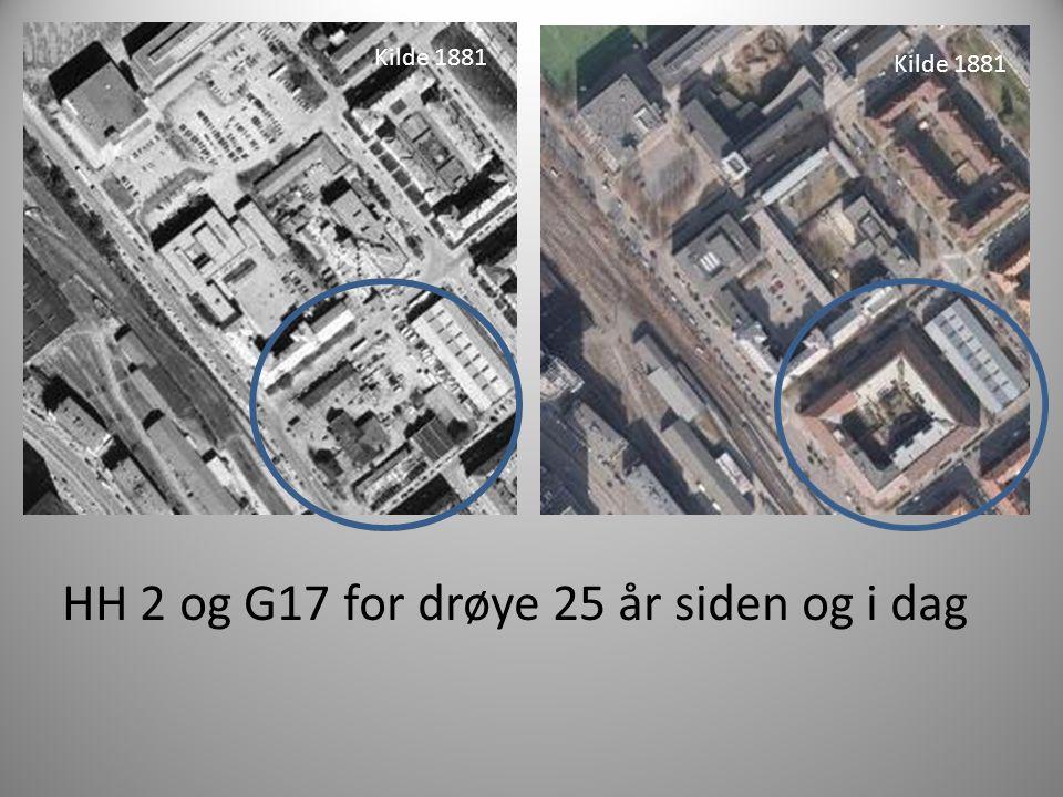 HH 2 og G17 for drøye 25 år siden og i dag