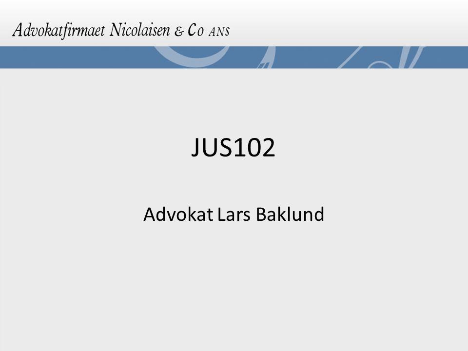 JUS102 Advokat Lars Baklund