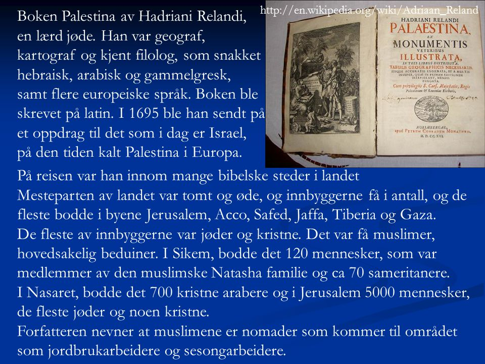 Boken Palestina av Hadriani Relandi,